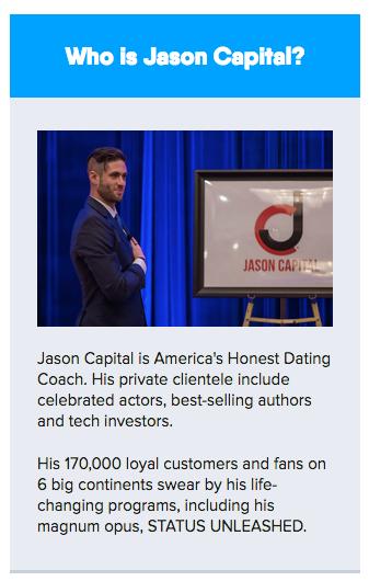 Dating coach Jason capital positive singles Dating App
